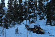 Тяжёлые условия при экспедиционной рыбалке в северной Карелии