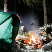 Ночёвка при минус 30 в экспедиционном рыболовном туре по северной Карелии