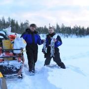 Приятная щука на удочку зимой в северной Карелии