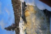 Водопад Киваккакоски зимой