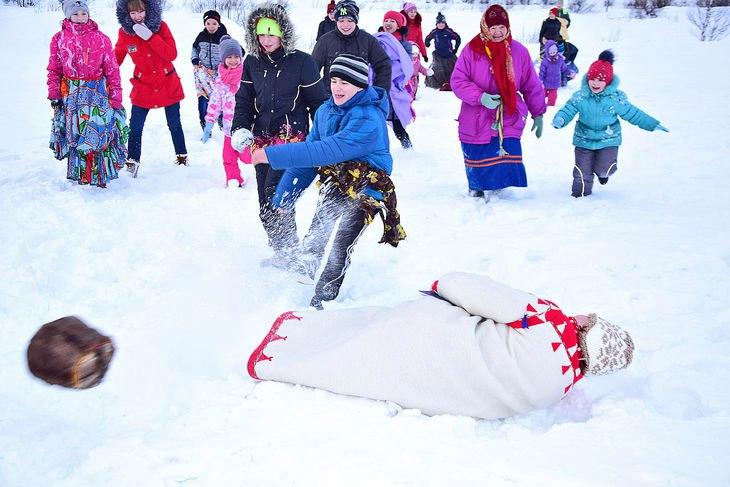 Саамские игры зимой